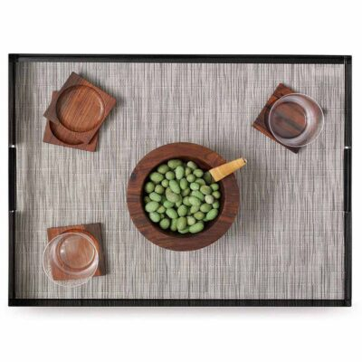 rectangle chalk placemat made of bamboo by Chilewich
