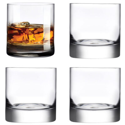 set of 4 Handmade Whisky Glass by Nude