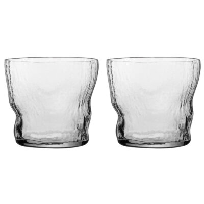 set of 2 handmade textured tumbler by Nude