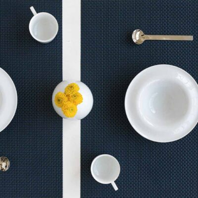 Rectangle Navy placemat by Chilewich