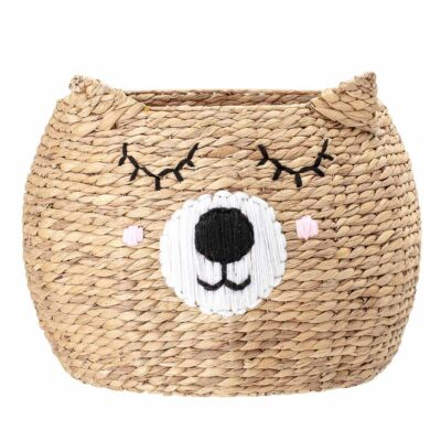 Bear storage basket made of Water Hyacinth by Bloomingville