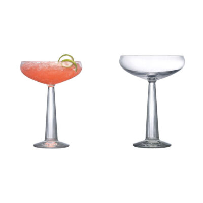 set of 2 handmade Coupe Glasses by Nude