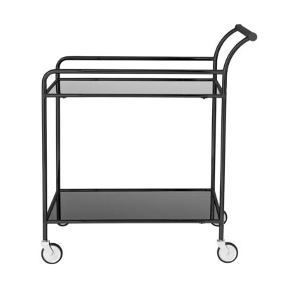 Black metal drinks trolley by Bloomingville