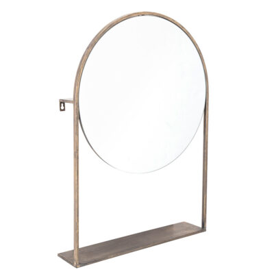 Brass dressing table mirror by Bloomingville