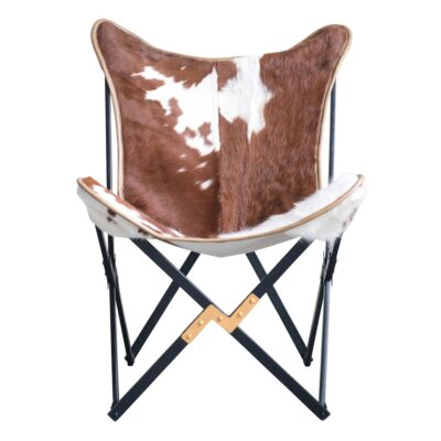 Butterfly chair cow hairon by Bloomingville