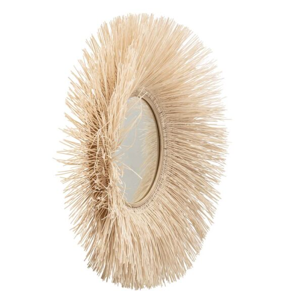 Round Cane mirror by Bloomingville