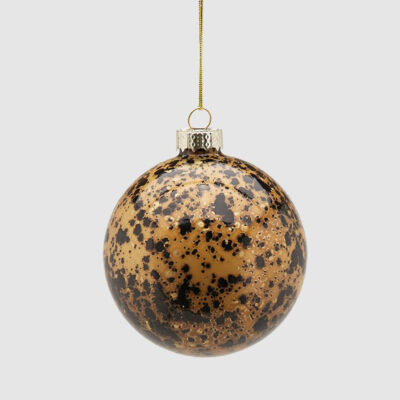 Christmas bauble gold and brown by EDG