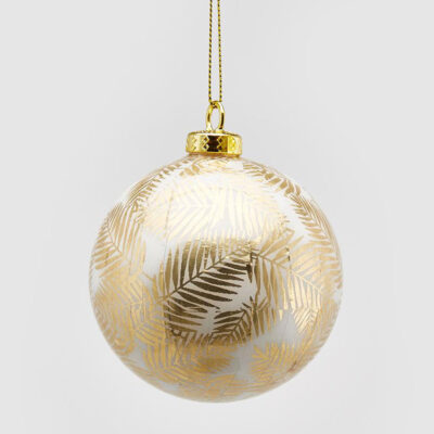 Christmas bauble gold palm by EDG