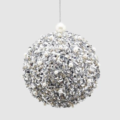 Christmas bauble with silver pearls by EDG