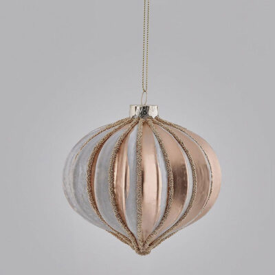 Christmas tree decoration pink gold by EDG