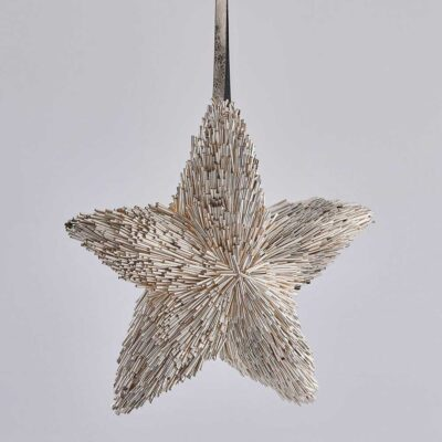 Christmas tree decoration silver star by EDG