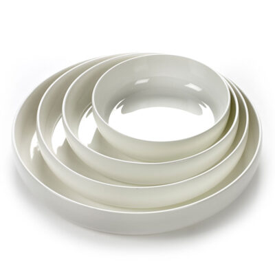 white porcelain deep plate by serax