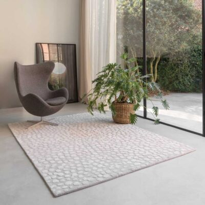 handtufted Dotted grey Rug by Ligne Pure