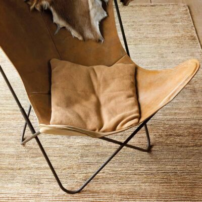 handknotted Dune brown rug by Ligne Pure