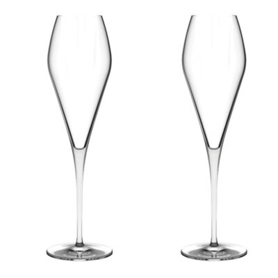 Set of 2 Fantasy Champagne Glasses by Nude