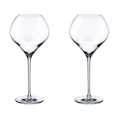 set of 2 handmade Red Wine Glass by Nude