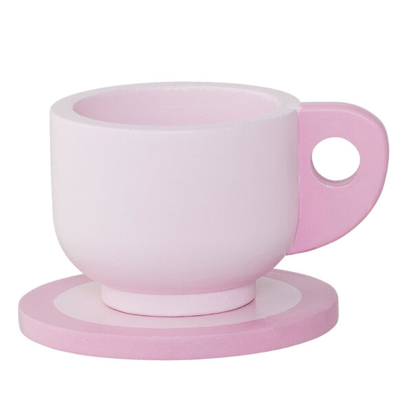 Pink wooden tea set for kids by Bloomingville