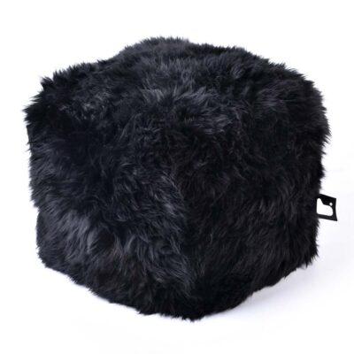 Pouffe B BOX Fur Black extreme-lounging