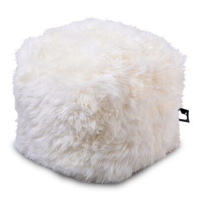 Pouffe B BOX Fur Cream extreme lounging