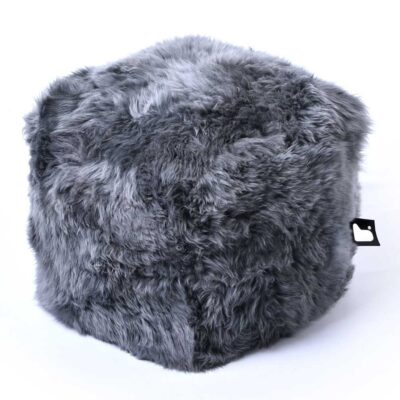 Pouffe B BOX Fur Grey extreme lounging