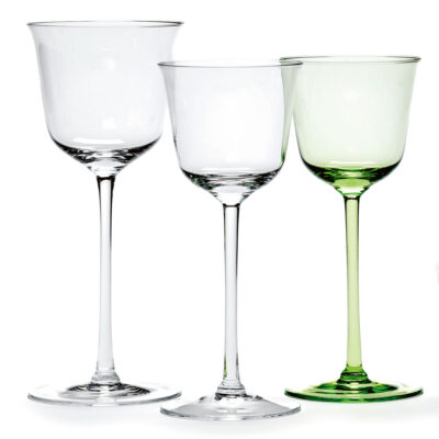 Grace wine glasses designed by Ann Demeulemeester