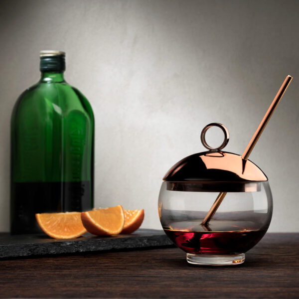handmade Alchemy Glass with copper accent by Nude