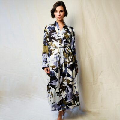 Kensington print leaf long wrap by Fable and Eve