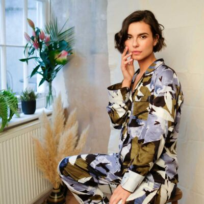 Kensington print leaf pyjama set by Fable and Eve