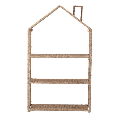 Kids house bookcase in rattan by Bloomingville