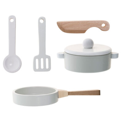 kids wooden Kitchen toy set by Bloomingville