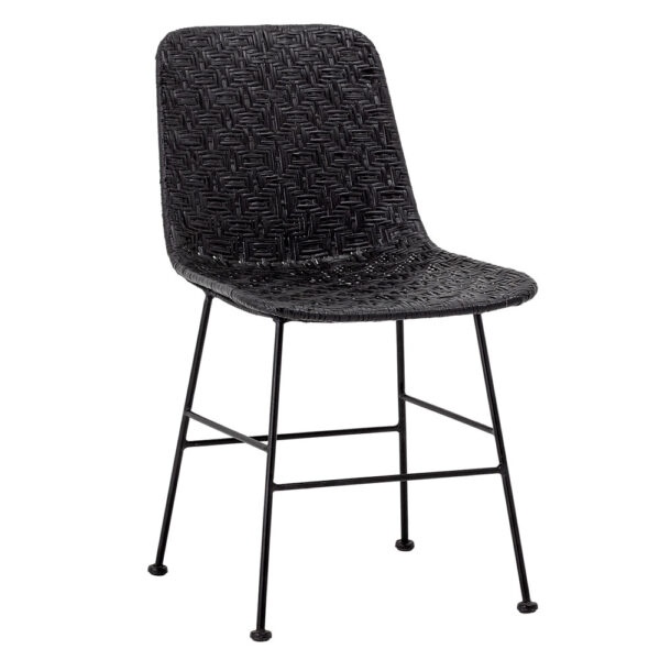 Kitty rattan black dining chair by Bloomingville