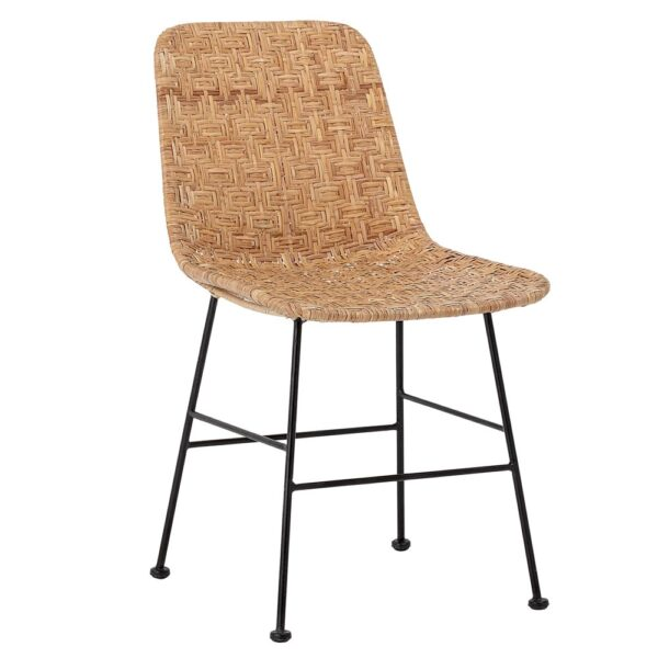 Kitty rattan natural dining chair by Bloomingville