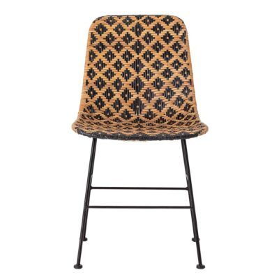 Kitty rattan patterned dining chair by Bloomingville