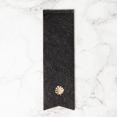 Leather book mark black by Hello Day