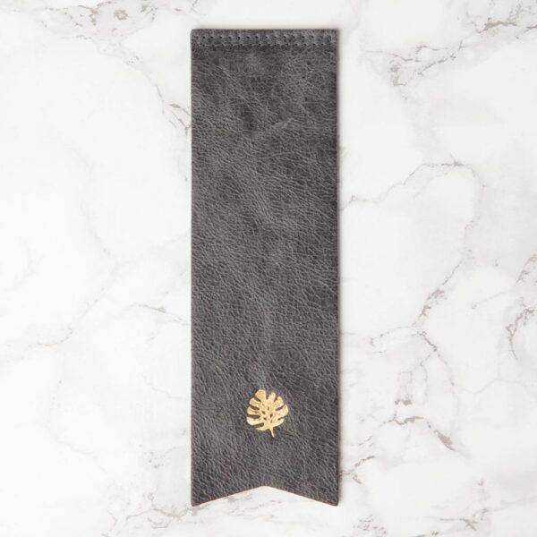 Leather book mark grey by Hello Day