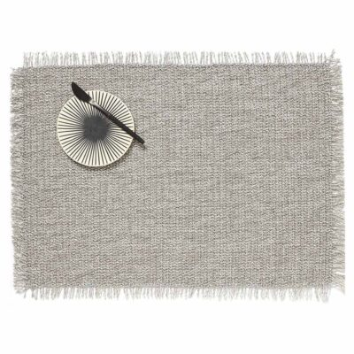 Fringe Rectangle Quartz placemat by Chilewich