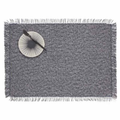 Fringe Rectangle grey placemat by Chilewich