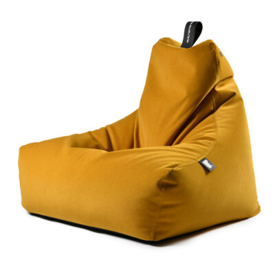 Bean bag mustard brushed suede by extreme lounging