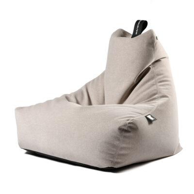 Bean bag grey brushed suede by extreme lounging