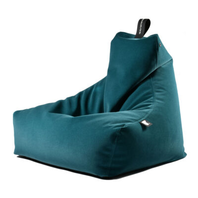Bean bag blue brushed suede by extreme lounging