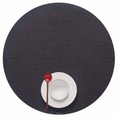 Round Black placemat by Chilewich