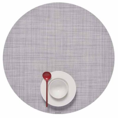 Round light grey placemat by Chilewich