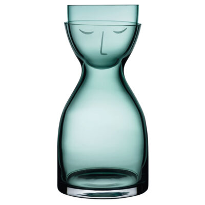 handmade Night Water green Carafe and Glass Set short by Nude