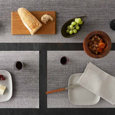 Ombre Rectangle Silver placemat by Chilewich