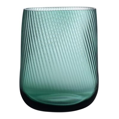 handmade Leadfree crystal Opti vase Green by Nude