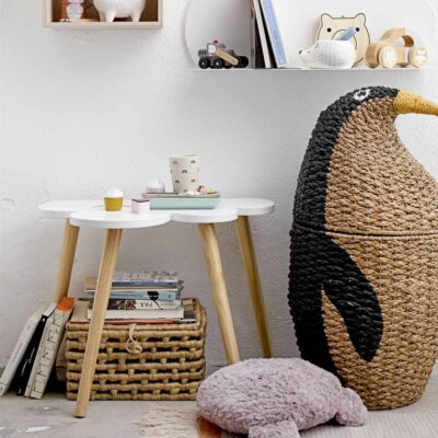 Penguin storage basket made of Bankuan Grass by Bloomingville