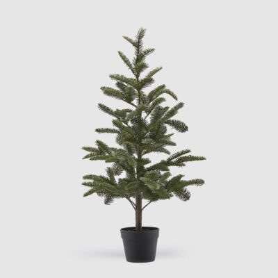 Pine Tree Green with black vase h94 by EDG