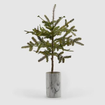 Christmas Pine Tree with marble vase h105 by EDG
