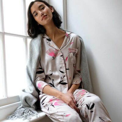 Primrose hill floral print Pyjama set by Fable and Eve