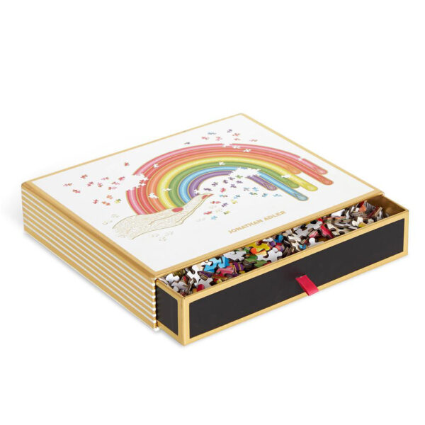 Rainbow hand shaped puzzle by Jonathan Adler